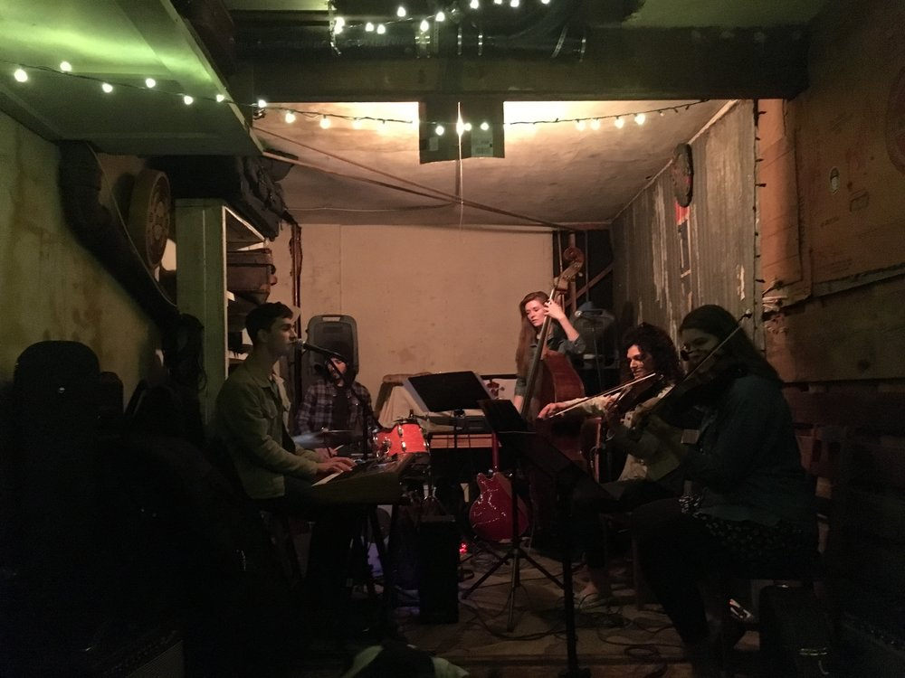 performing the music for the first time at The Garage in Highland Park