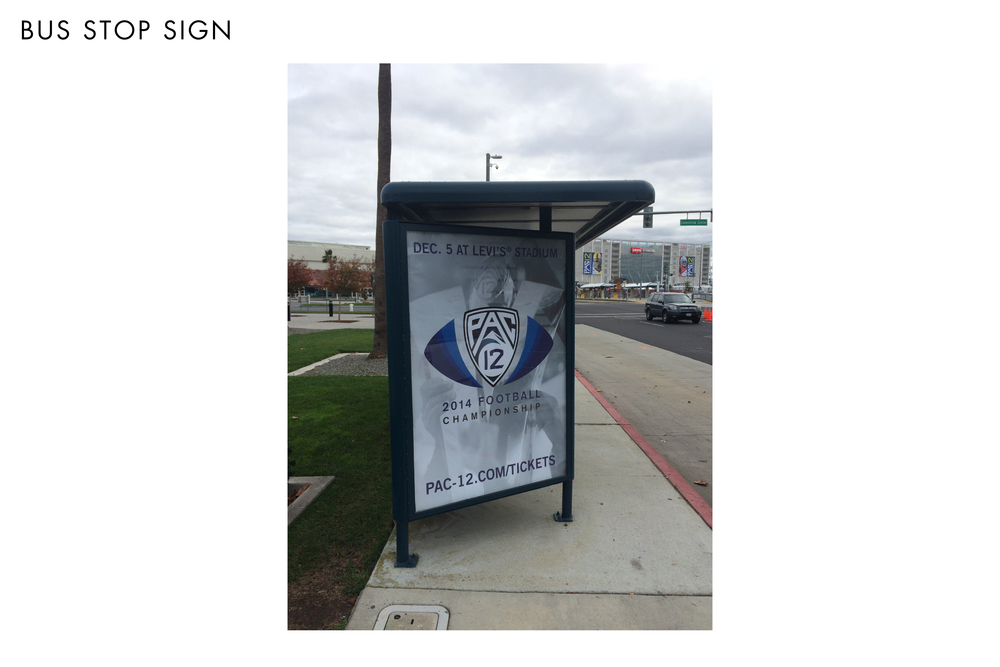 Pac-12 Football Championship Game Bus Stop Sign