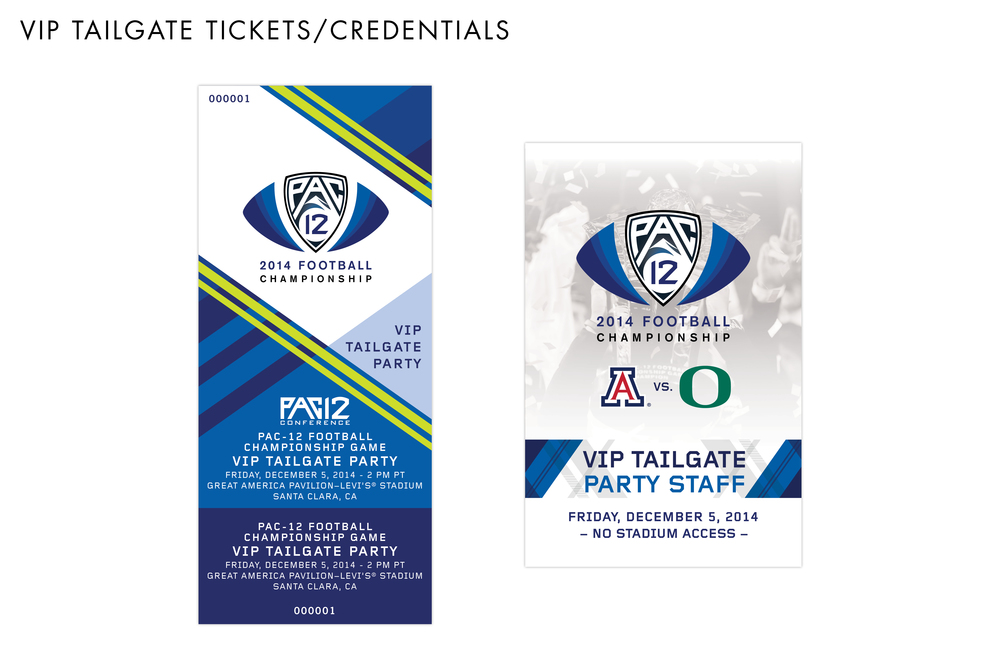 Pac-12 Football Championship Game VIP Tailgate Collateral