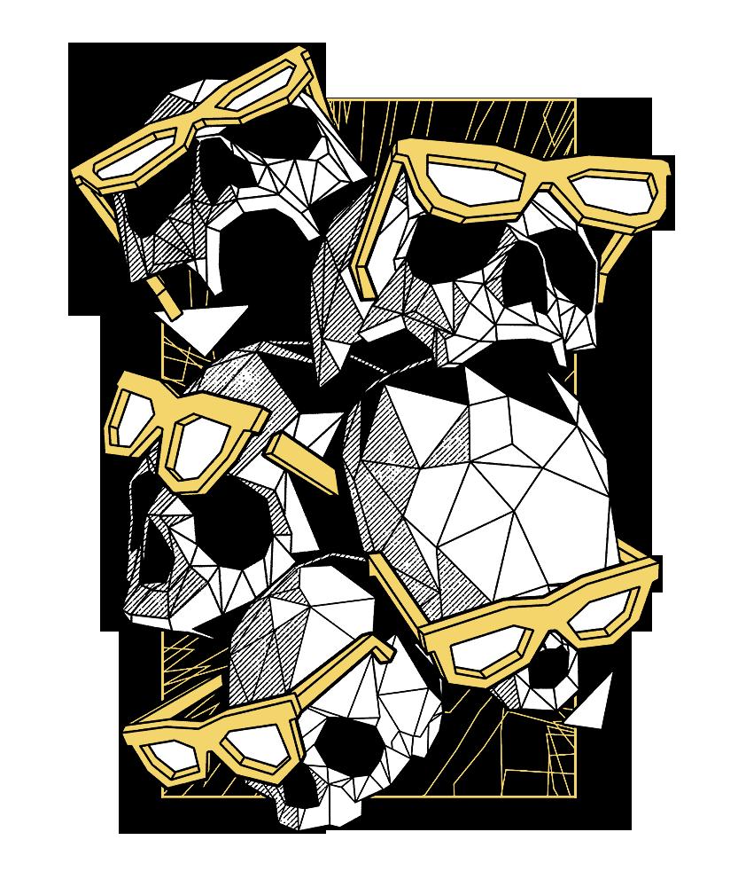 Poly Skulls