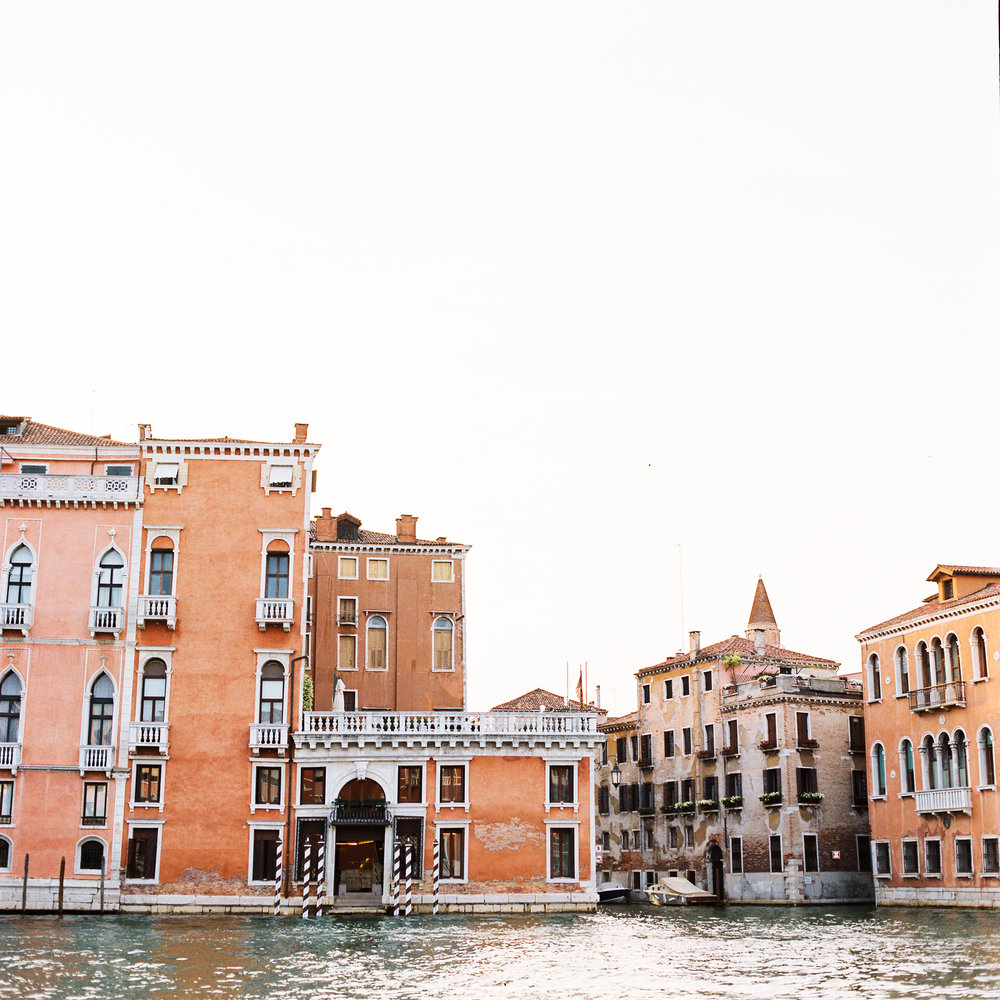 We arrived to Venice (and these perfect views) through the Grand Canal in the most beautiful water taxi I've ever seen.  It's no wonder why this city feels so romantic, even when you've just spent the last 15 hours traveling to get there.