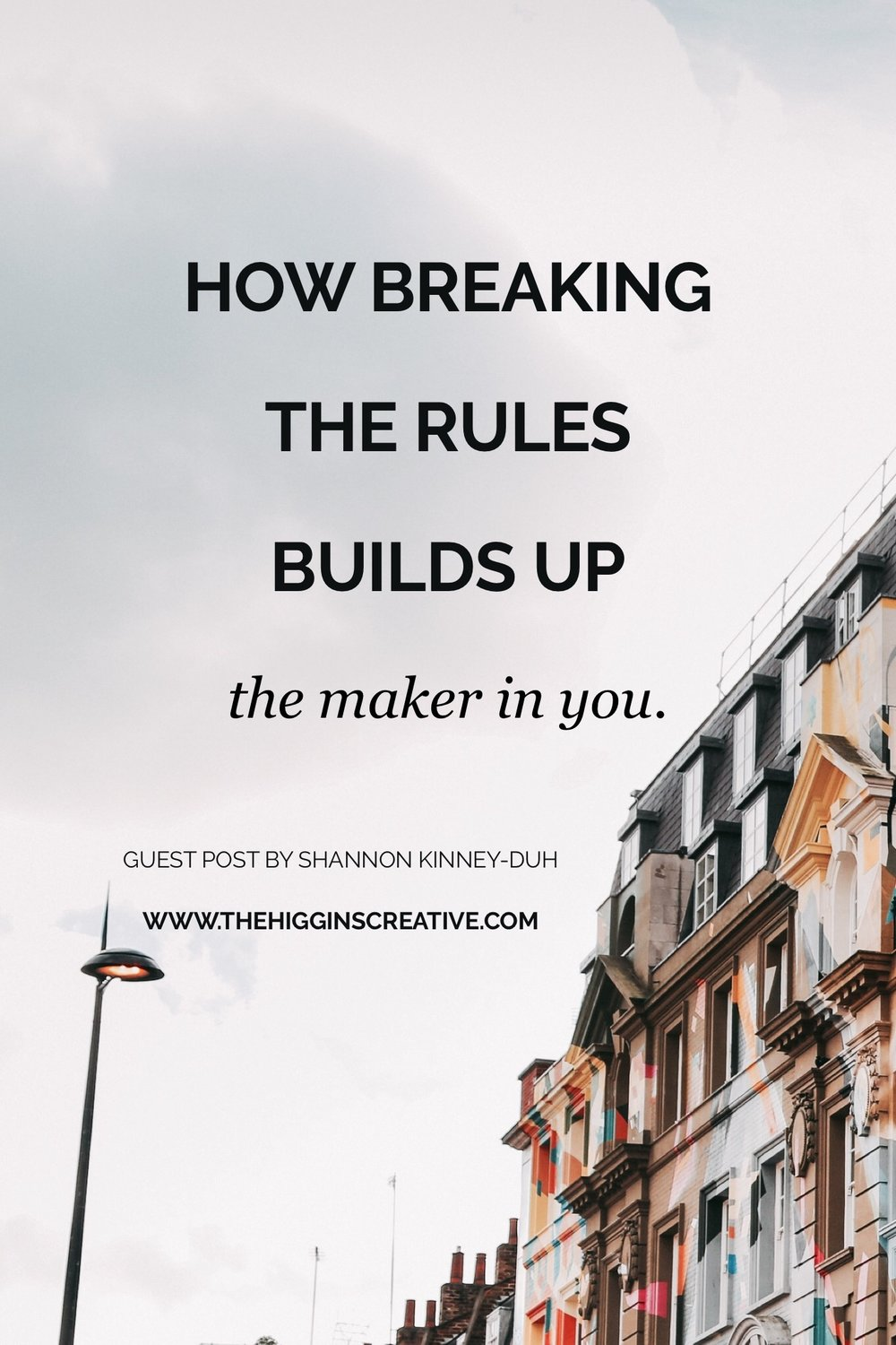How breaking the rules build up the maker in you. Find out more about how breaking the rules can be good for your maker soul! In business we often focus on the rules on how to market your biz, building brands and more but we never stop to see how those rules could be holding us back.