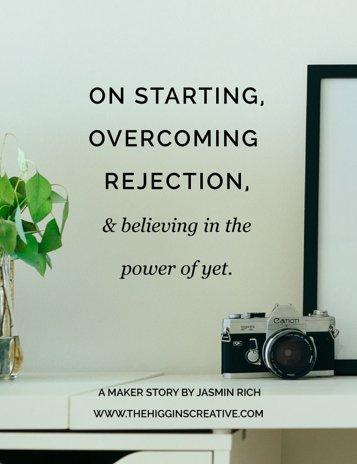 For makers, artist and small business owners, overcoming rejection and the fear of starting your business is a struggle faced daily. Find out how Jasmin got started with her jewelry business, overcame rejection and believed in the power of what was yet to be.