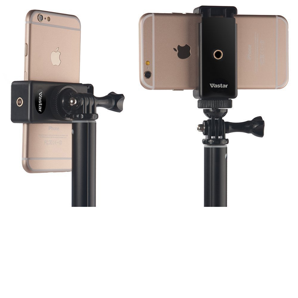 "Phone tripod clip This clip is one of the most useful and versatile tools in our kit. It has the standard 1/4"" tripod screw receiver, meaning it can be mounted to any tripod you have. We love to mount it within our ring light for FaceBook Lives."