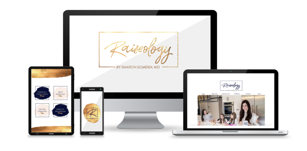 "Raiseology by Sharon Somekh, MD    Membership Site + Movement   ""They  immediately understood my purpose , helping with many aspects of planning out my business not just visual design."""