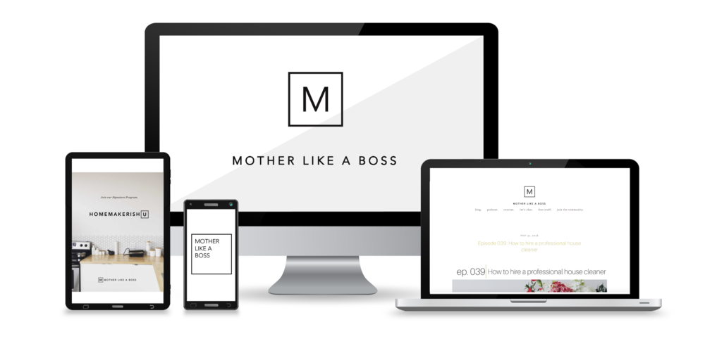 "Mother Like A Boss by Kendra Henessey    Podcast, Course Library, + Blog   ""If you're ready to become to  a brand worth showing off to the world , this is the designer for you."