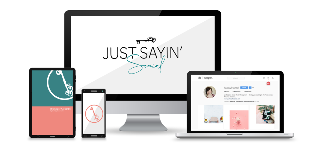 "Just Sayin' Social by Leslie Laws    Social Media Manager   ""Her ability  to design a brand from someone's vision is like no other.  I don't know why I waited so long to hire her, but I'm so glad I finally said: YES!"