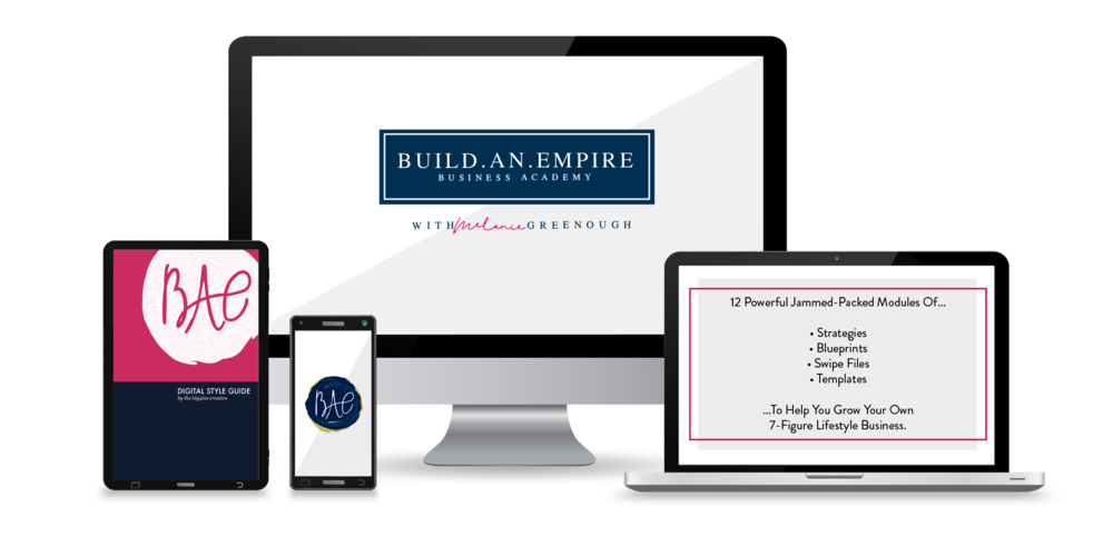 "Build An Empire by Melanie Greenough    Business Coach + Speaker   ""The team delivered EXACTLY what I wanted and exceeded my expectations with a positive and encouraging attitude."""