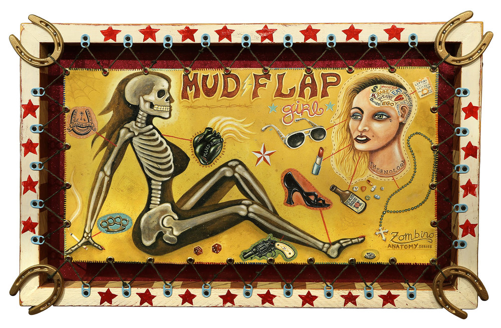 Red Truck Gallery Mud Flap Girl