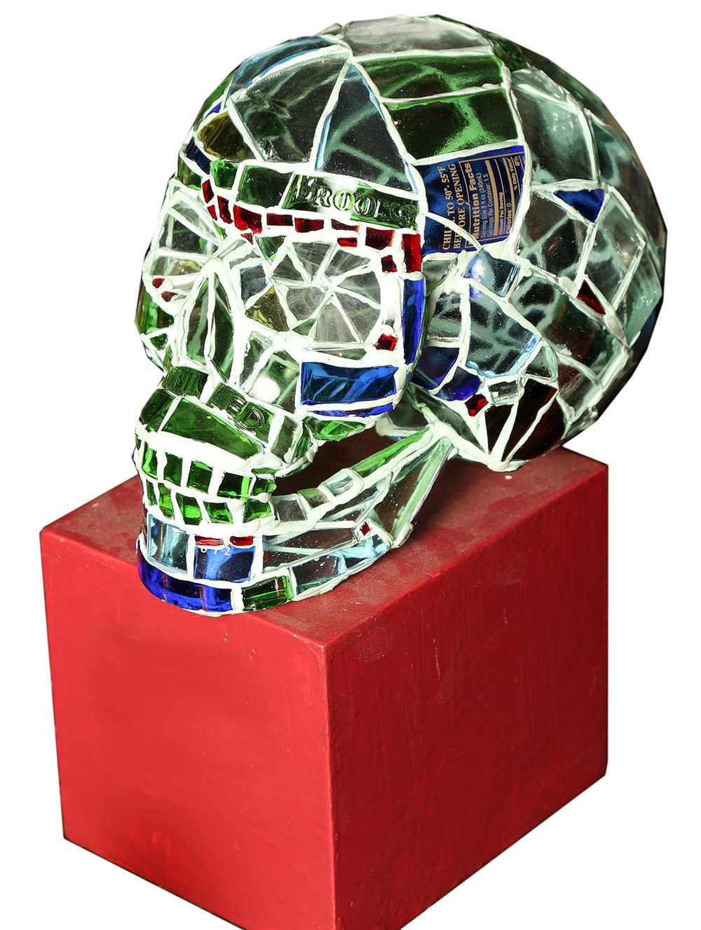 Red Truck Gallery Red, Blue & Green Skull by Andres Basurto