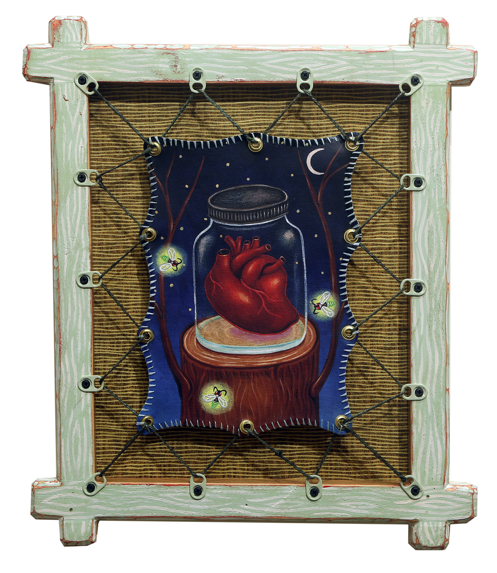 Red Truck Gallery Heart In A Jar by Bryan Cunningham