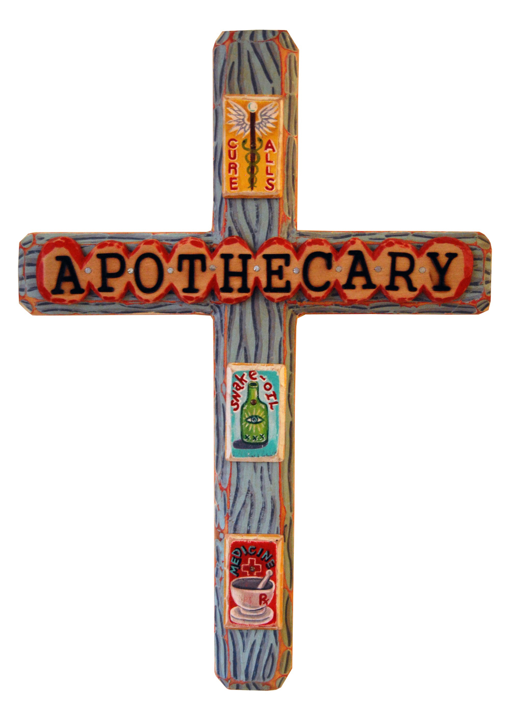 Red Truck Gallery Apothecary Cross by Bryan Cunningham