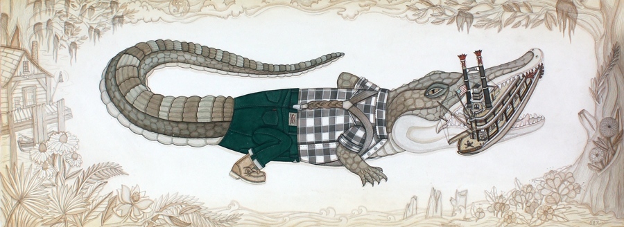 Mississippi Mud Gator by Evan B Harris