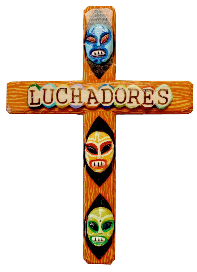 Luchadores Cross by Bryan Cunningham