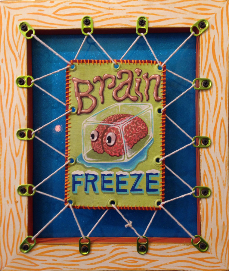 Red Truck Gallery Brain Freeze by Bryan Cunningham