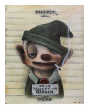 Red Truck Gallery Dope Mugshot Misfit Print by John Whipple