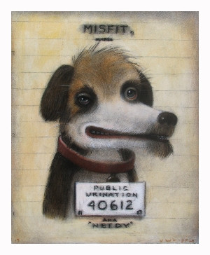 Red Truck Gallery Needy Mugshot Misfit Print by John Whipple