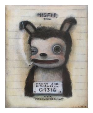 Chainsmoker Mugshot Misfit Print by John Whipple