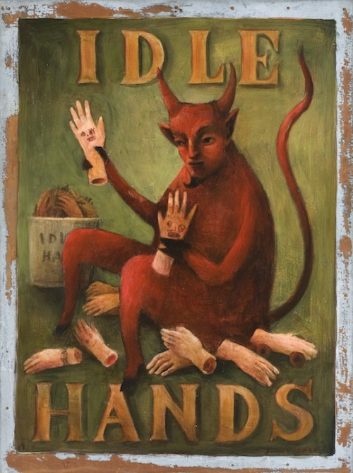 Idle Hands Print by John Whipple