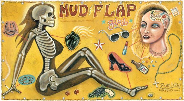 Mudflap Girl Giclee Print by Bryan Cunningham