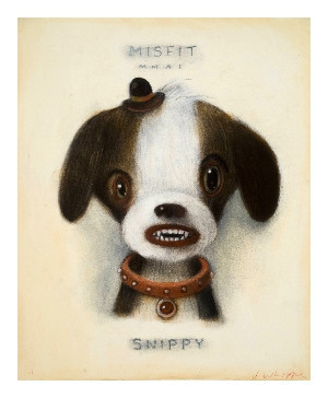 Red Truck Gallery Snippy Misfit Print by John Whipple