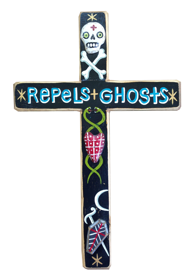 Red Truck Gallery Repels Ghosts Cross by Bryan Cunningham