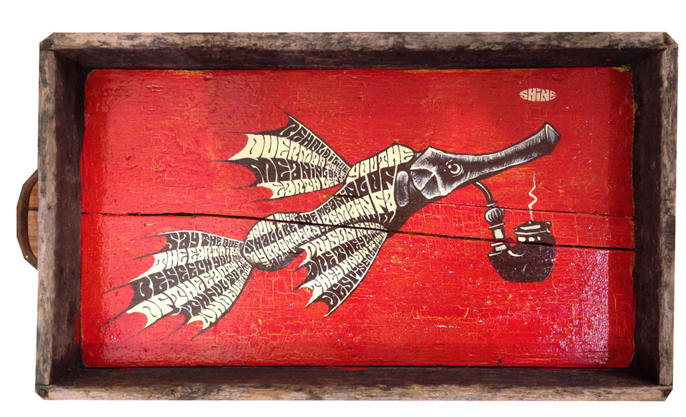 Red Truck Gallery  Red Pipe Fish by Mike Shine
