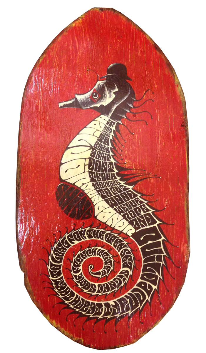 Red Truck Gallery Seahorse by Mike Shine