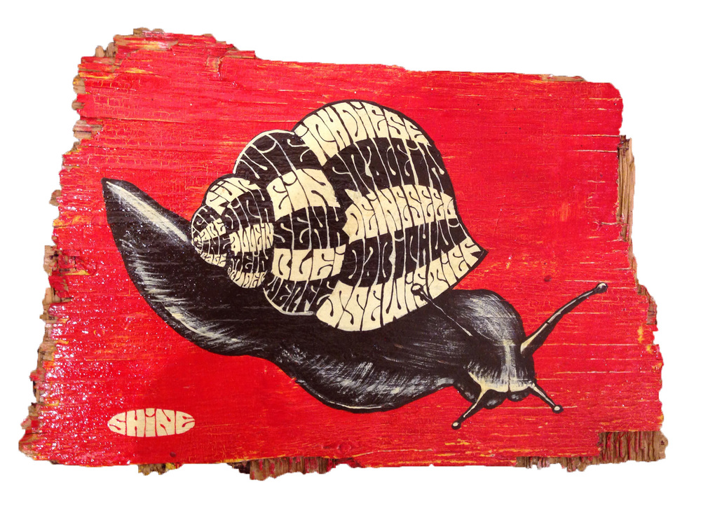 Red Truck Gallery  Snail by Mike Shine