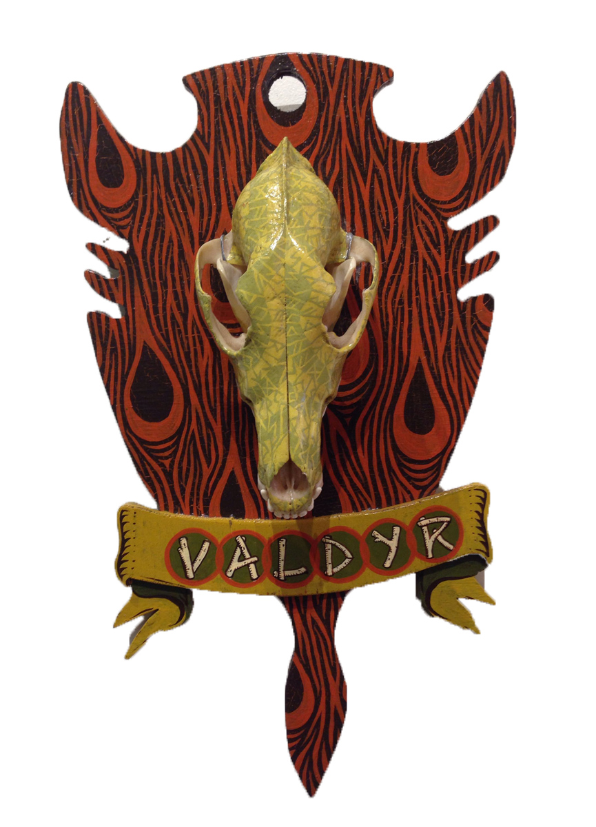 Red Truck Gallery  Valdyr Skull by Mike Shine
