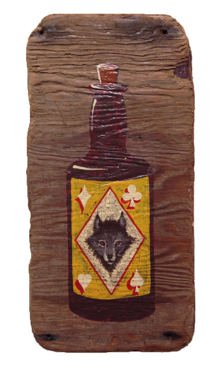 Red Truck Gallery  Wolf Bottle by Mike Shine