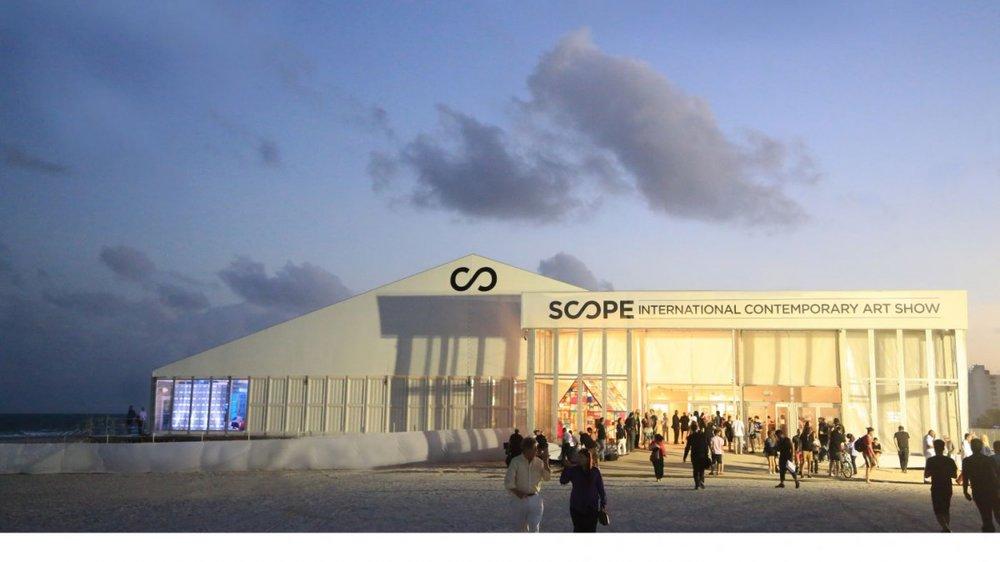Scope festival Miami - scene of the mace attack on con artist, Noah Antieau