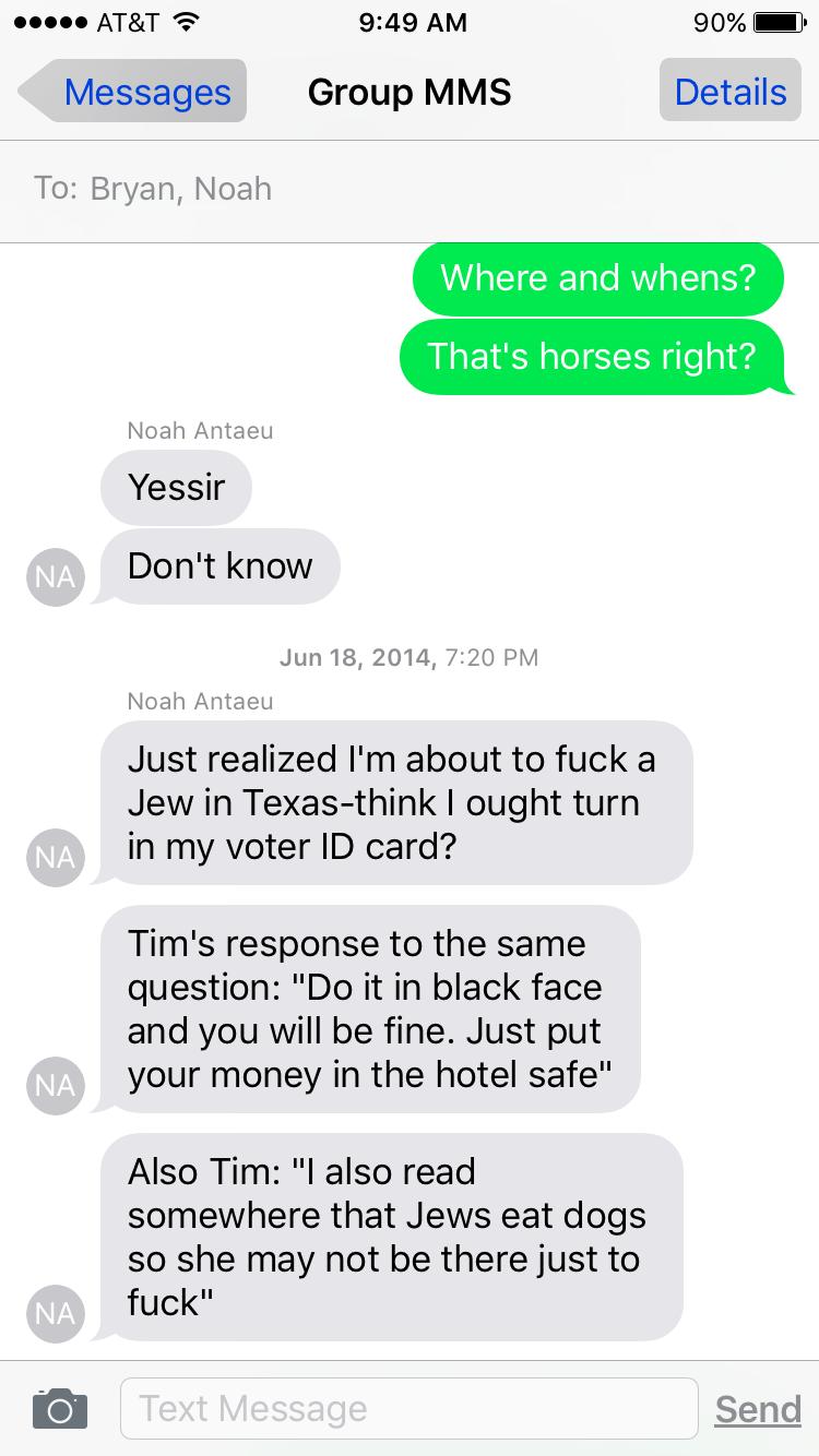 Noah Antieau hates jews