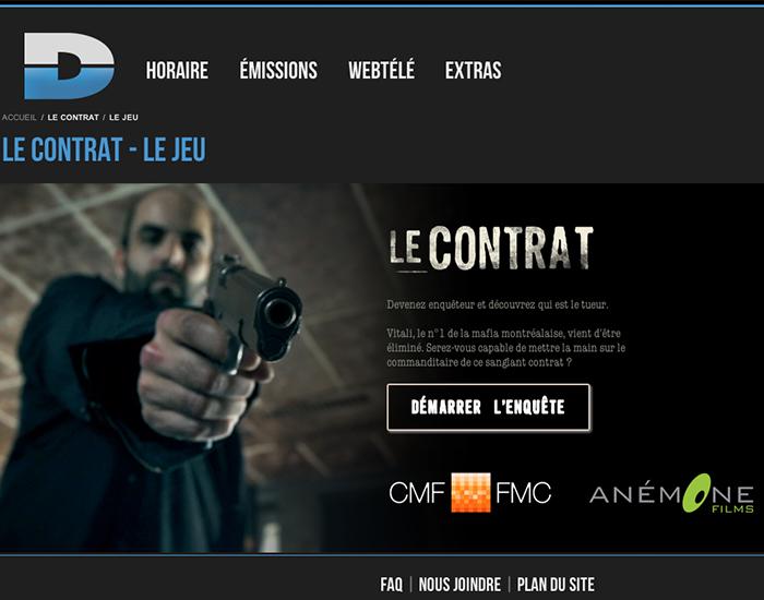 LE CONTRAT a été développé par la fine équipe de TONTON, agence de création numérique.