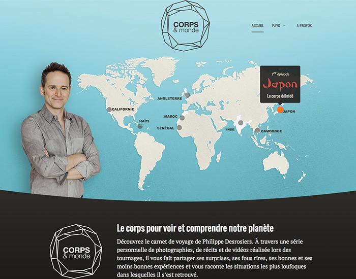Corpsetmonde.ca a été développé par la fine équipe de TONTON, agence de création numérique.