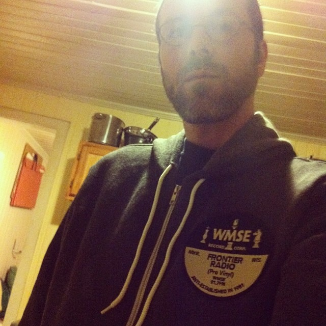Digging the new hoodie @WMSE #WMSElfie