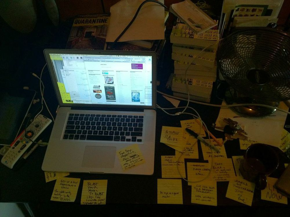 My desk is always a complete mess.