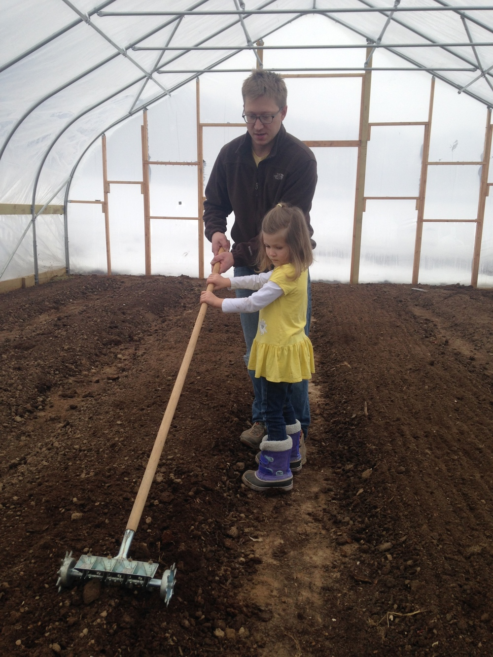 Planting in the new green house!