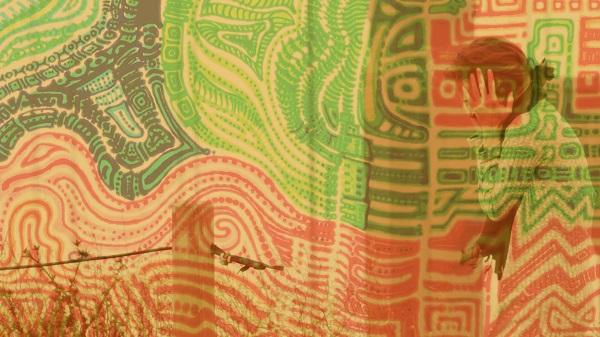 Be Sane. / still overlay from MOTHER LODE / artwork, 'Block Energy' by Morgan Rua / waildance.com
