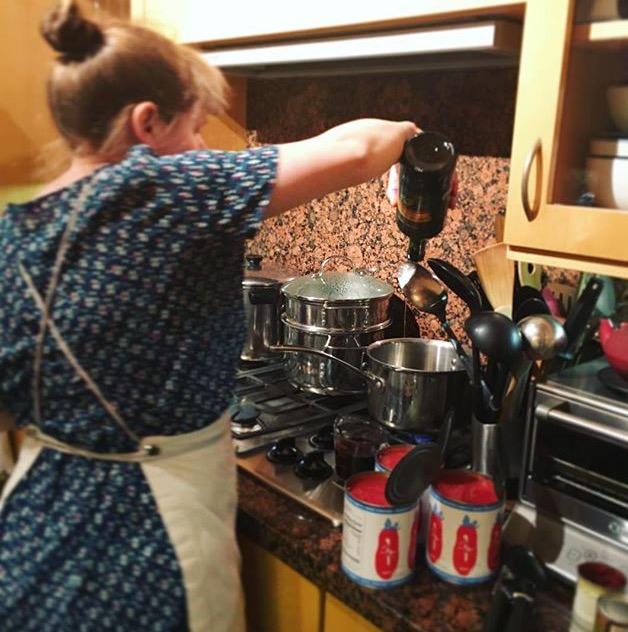 Making Marinara Sauce!