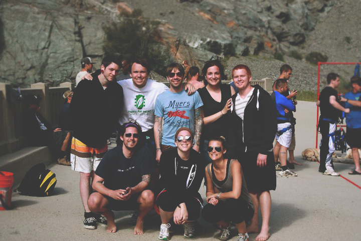 Our hiking crew after our jumps - all smiles.