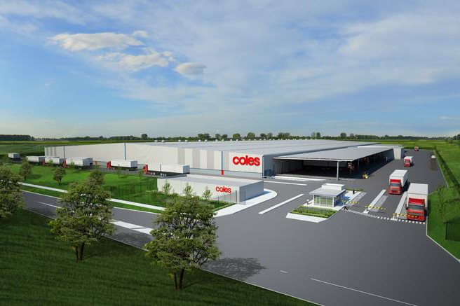 Coles Distribution Warehouse  Truganina, VIC  80,000m2 Client: Vaughan Constructions