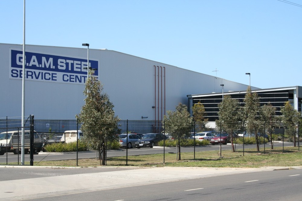 G.A.M. Steel Warehouse  Derrimut, VIC  46,000m2 Client: GAM Steel