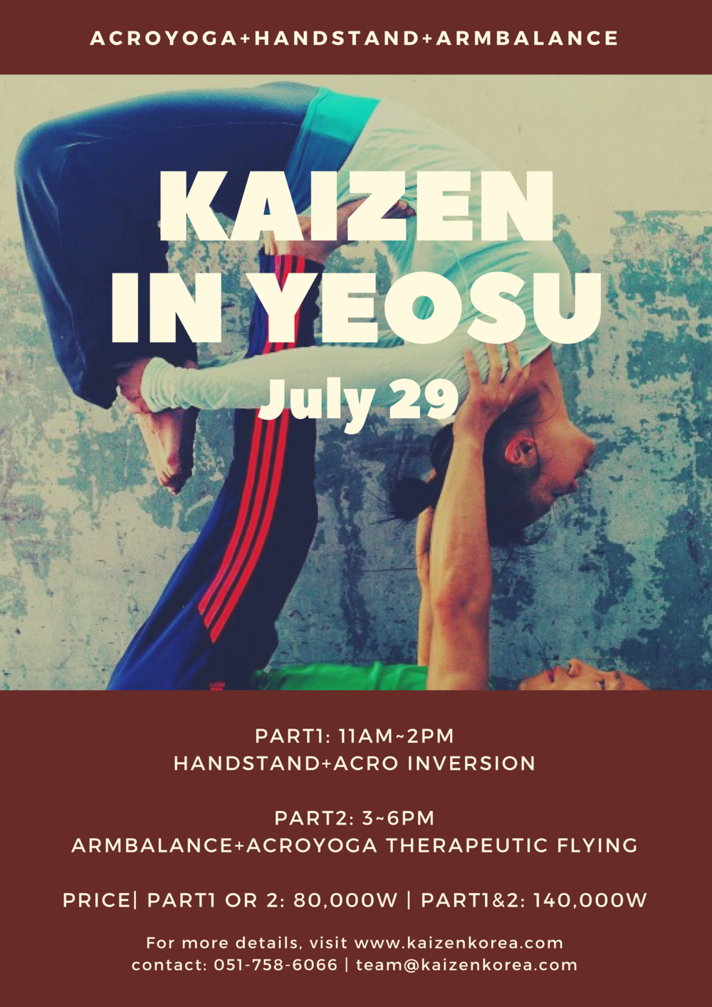 for more info & enrollment contact : team@kaizenkorea.com | 051-758-6066