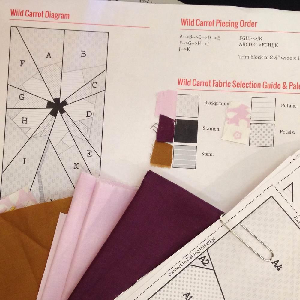 Fabric guide in original color palette.