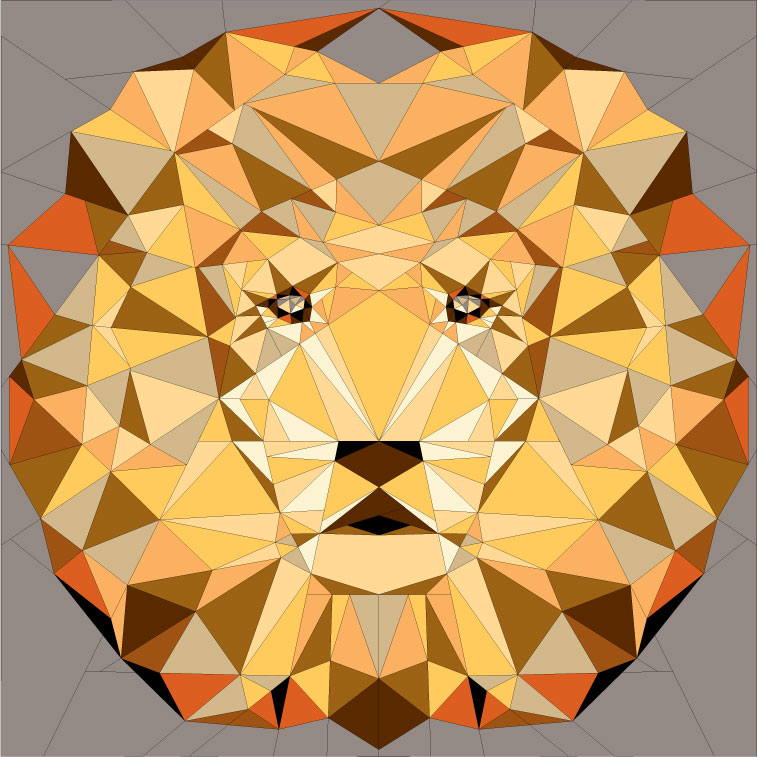 Jungle Abstractions: The Lion, Alternate Colorways — Violet Craft