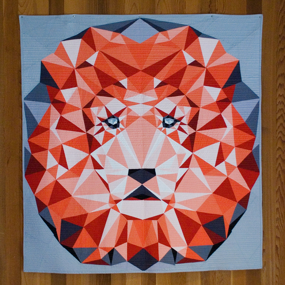 The original Jungle Abstractions: The Lion quilt