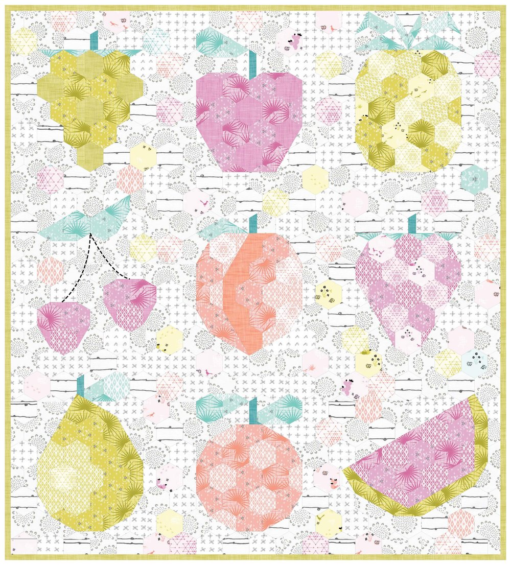 The Fruit Basket EPP pattern