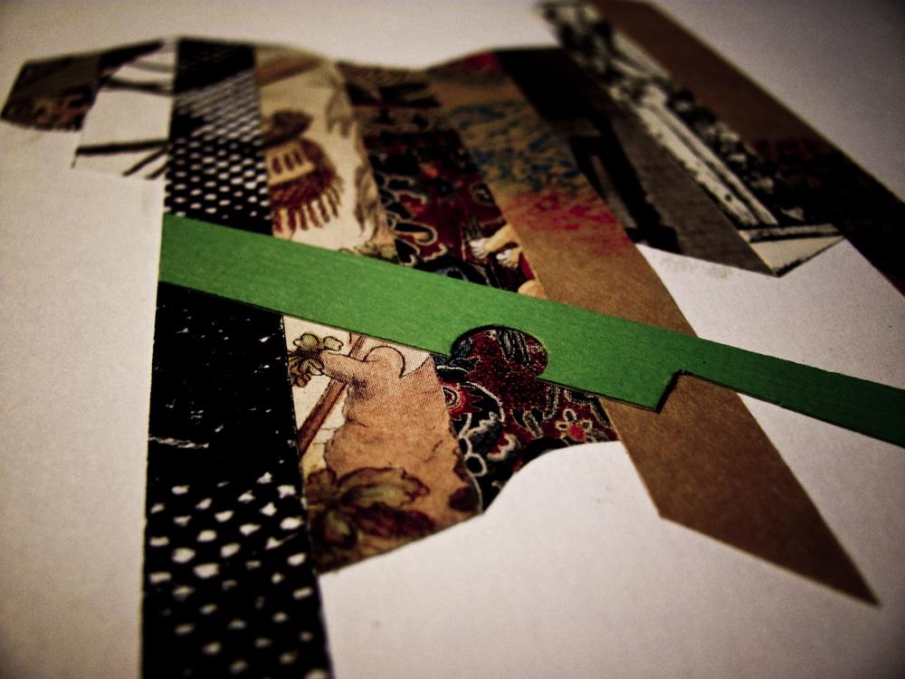 Concept design through collage construction.