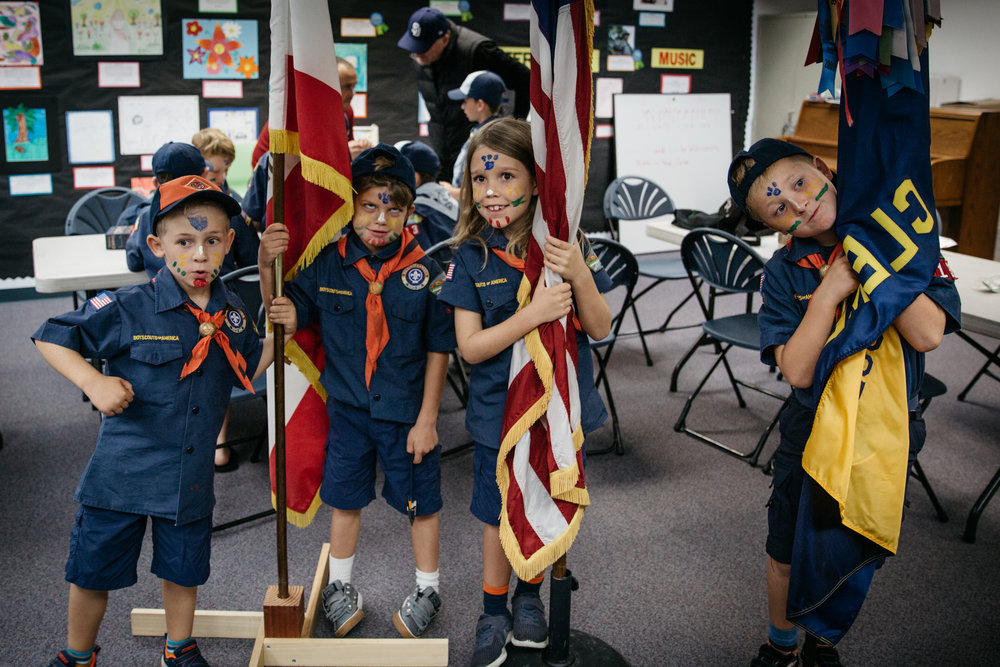 Cub Scout bobcat badge ceremony